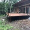 最新の施工例 7月27日 別荘の大型ウリンデッキ