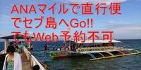 【Web予約不可】ANAマイルでセブ島へ直行便で行こう!