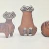 【リサラーソンの小さな動物園シリーズ】愛嬌のある3匹のネコの陶器