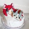 娘作の手作りキャラケーキ&おもてなしごはん
