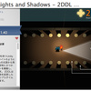 2D Dynamic Lights and Shadows - 2DDL PRO 2D用の光源と障害物から出来る影と光のエフェクト