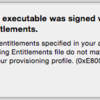 【Swift】The executable was signed with invalid entitlements. の対応方法