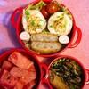 ゆで卵のささみ巻き弁当