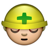 An Emoji Talk: Green Cross means safety 👷