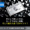 【アメックス・プラチナ】手にして欲しいのはカードではなく体験、そして入会7万ポイント!