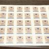 70年振りの1円切手とか、最近のつまみ細工
