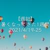 【週記】暑くなってきた1週間 2021/4/19-25