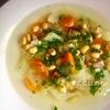 蒸し大豆とたっぷりのお野菜を使ってヘルシーに!「蒸し大豆とキャベツのスープ」作り方・レシピ。