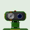 緑のロボットが勤務する薬局