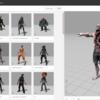 すんごい使える!mixamoっていう超便利サイトを使って3Dアニメーションをキャラクターにつける
