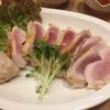 恋粋で大山鶏の刺身と男前ジョッキ(東向島)