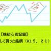 【株初心者記録】短期投資として買った銘柄(R3.5.21)