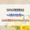 【ブログ運営報告】2年11ヶ月☆2020年最終月もマイペースでした