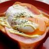 【朝ごはん】温玉のせハムチーズトースト【レシピ】