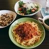 定番のスパゲティミートソース( *´艸`)