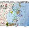 2017年09月25日 03時06分 宮城県沖でM3.8の地震