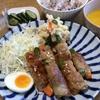 北海道産アスパラと人参の豚肉巻き・かぼちゃスープ