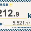 7/14〜7/20の総発電量は489.90kWh(目標比72.6%)でした