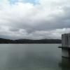 満濃池と神野神社(香川県仲多度郡まんのう町かみの)