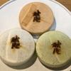 三田『秋色庵大坂家』秋色最中。手土産にも最適な3種類の餡が詰まった美しい最中。