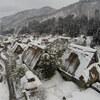 白川郷の雪景色を空撮できました