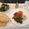 第1目的地へ エミレーツビジネスクラス 機内食 ランチ