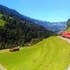 スイスの車窓は素晴らしい
