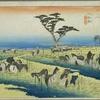 東海道五十三次 三十九の宿 三河国碧海郡 池鯉鮒宿 栗毛鹿毛 あしたはあしたの草を食み