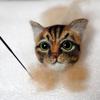 猫毛フェルト ねこあたま習作