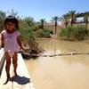3歳がヨルダン川で洗礼を受ける。聖地「キリスト洗礼の池・Baptism site」で沐浴(ベタニア・ヨルダン