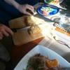 ランチ会④牛肉のパイ包み焼き、くるみのブラウニー