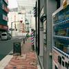 中央区京橋の裏通りの理髪店