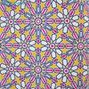 「イスラム文様とモザイクのぬり絵ブック」をポール&ジョーの手帳カバーカラーで塗ってみた