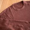 無印良品のヤク混ウールのセーターが軽い着心地でいい感じです