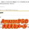 Amazonでマスクを買ったら『重要』と書かれたメールが届いた!! ~過去にご注文された商品についてのおしらせ