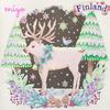「花のさんぽ道」 フィンランドより『トナカイと雪の森』『北欧の食器』の作品