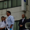 30日、増子候補と野党幹部、市民連合が揃い踏みで福島市で合同演説会。共産党の総決起集会で市田副委員長が劇的な選挙情勢、最後まで心ひとつに闘おうと訴え。