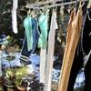 「佐久の季節便り」、洗濯日和、夕方、西空には「三日月さま」が…。