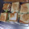 幸運な病のレシピ( 1610 )昼:焼きサンド(ポテトサラダ、レタスサンド)