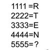 【算数パズル】1111=Rなら、5555=?