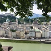 オーストリア ザルツブルク 翡翠色のザルツァッハ川♪
