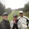 今日は久しぶりにゴルフ!でも、一日中雨!