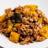 ひき肉とかぼちゃの豆鼓炒めのレシピ