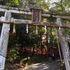 祭礼の様子を印にした見開きの御朱印 八大神社