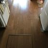 今日は、天気が良かったので、床のメンテナンスを行いました。