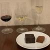 シャンパンチョコと3種ワインの飲み比べ