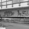 【今日の1枚】橋桁の落書き、なんでもないけど何となく気になるアートみたい