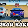 3台で合計2,600馬力のドラッグレース