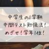 中学生の1学期中間テスト勉強法!めざせ!学年1位!