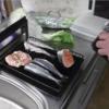 幸運な病のレシピ( 1985 )朝:魚焼き器で4種類(ギス、イワシ、鱒、鶏もも)、味噌汁、マユのご飯